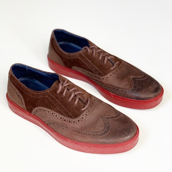 Cole Haan Shoes Mens Brown Wingtip Red Sole 8m Poshmark